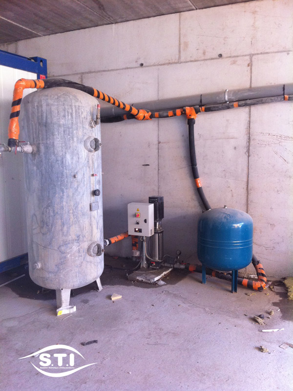 Temporary Plumbing Site  - Surpressors with automatism - 91 Essonne - France